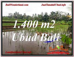 JUAL TANAH MURAH di UBUD 1,400 m2 di Ubud Payangan