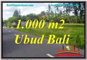 TANAH di UBUD JUAL MURAH 1,000 m2  View Sawah dan Sungai Kecil, Link. Villa