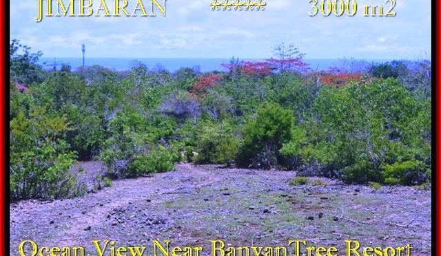 TANAH di JIMBARAN JUAL 3.000 m2 View laut , bukit dan hotel
