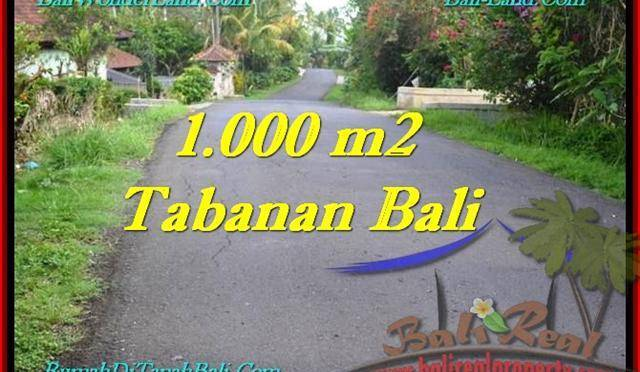 TANAH di TABANAN DIJUAL 1,000 m2 di Tabanan Selemadeg