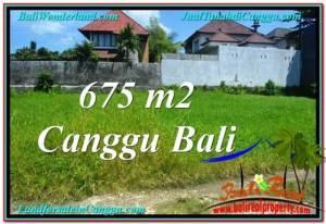 TANAH di CANGGU JUAL 675 m2  Lingkungan villa & Hotel