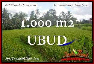 JUAL TANAH MURAH di UBUD 1,000 m2  View Sawah link Villa
