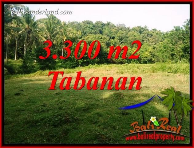 JUAL Tanah di Tabanan 3,300 m2 View Kebun dan Sungai
