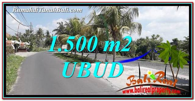 TANAH MURAH di UBUD JUAL 1,500 m2 View Sawah