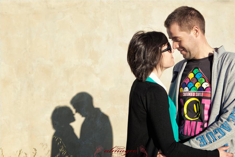 Fotografia de preboda para los novios con motivo de su boda en Valdepeñas de Jaén