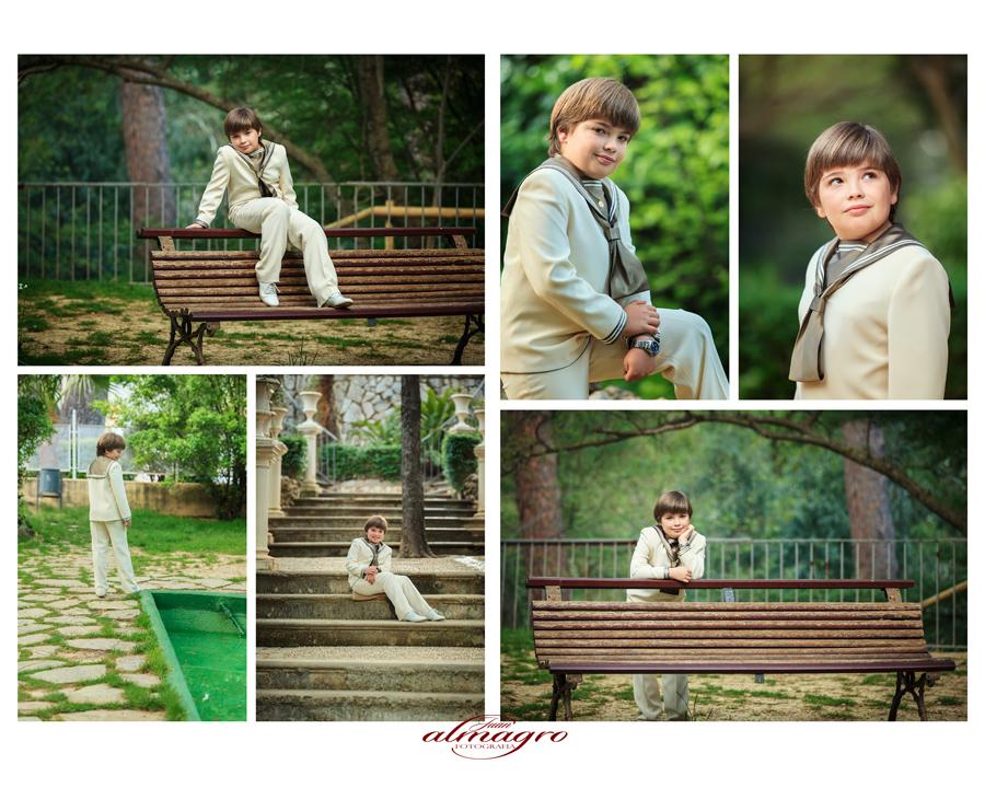 Fotografias realizadas en exteriores para la primera comunion de Roger
