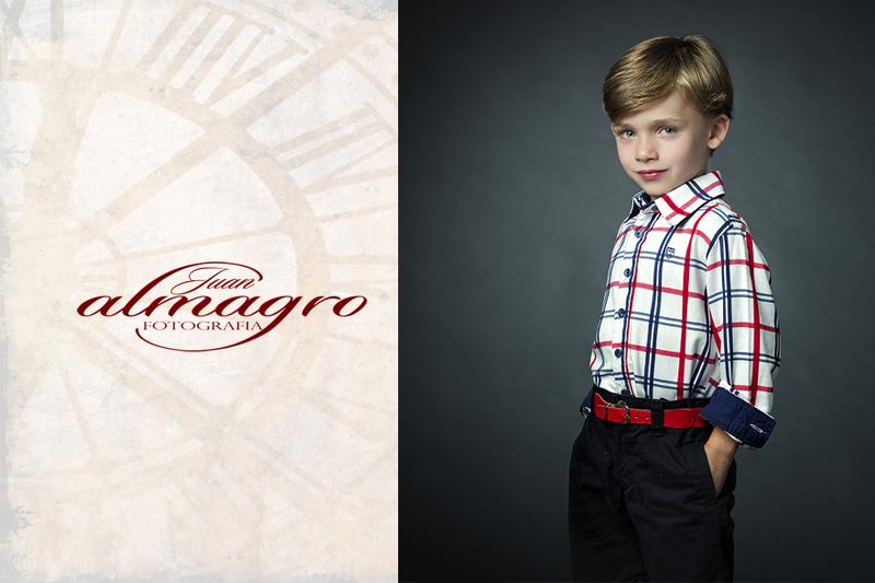 Fotos de niños realizadas en estudio por Juan Almagro