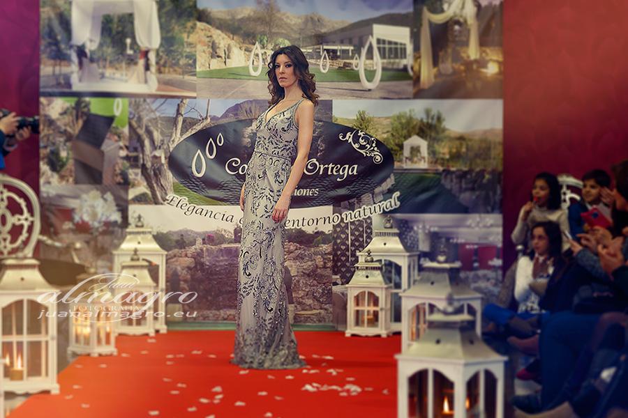 fotografia perteneciente al pase de modelos con vestidos de fiesta en complejo Ortega de Valdepeñas de Jaén