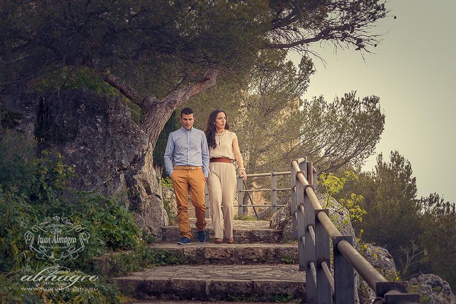 Pre-boda sesion de exteriores en Castillo Santa Catalina fotografo de bodas Jaén