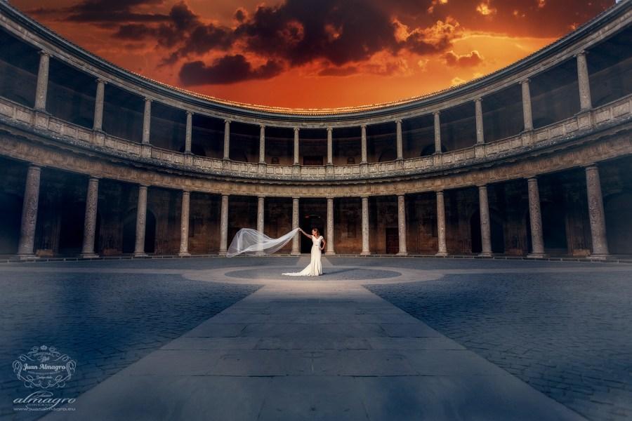 fotos postboda palacio carlos V de Granada por Juan Almagro Fotografos