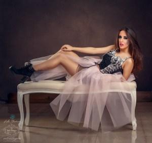 Fotografia Fantasía con Tul y corset tipo Boudoir