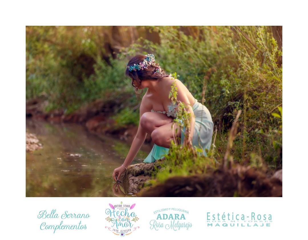 Recreación Ninfas del Bosque por Juan Almagro Fotógrafos con la colaboración de Bella Serrano, Estética Rosa y Peluqueria ADARA de Rosa Melgarejo