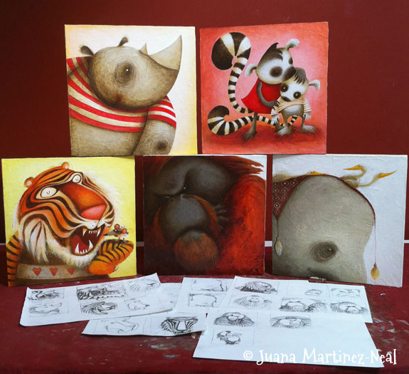 Illustrations for Rendez Zoo