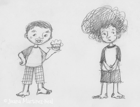 Fidel y Miguel - Character Sketches