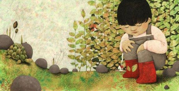 Illustration from Gebete für Kinder - Bahá'í-Verlag 2009 - illustrated by Constanze Von Kitzing