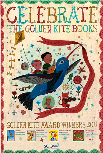 SCBWI Golden Kite 2010 Poster by John Parra