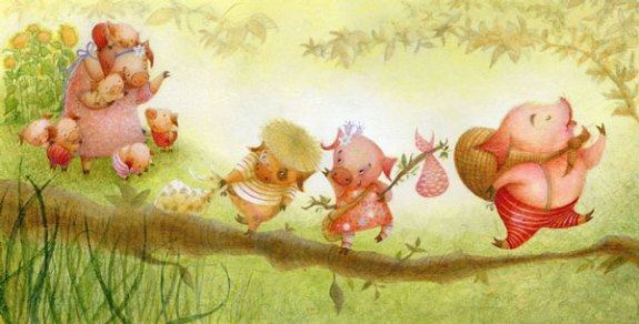 The Three Little Pigs - Illustration