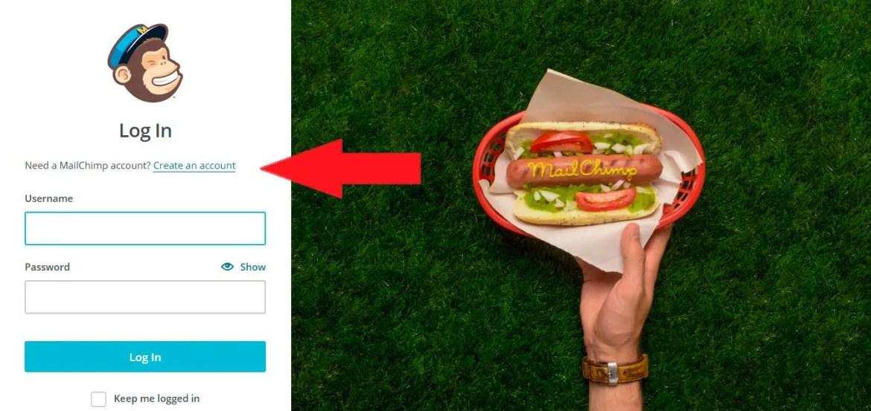 crea tu usuario en mailchimp