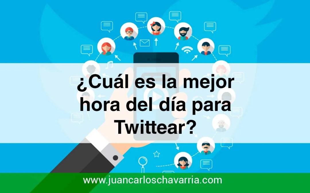 ¿Cuál es la mejor hora del día para Twittear?