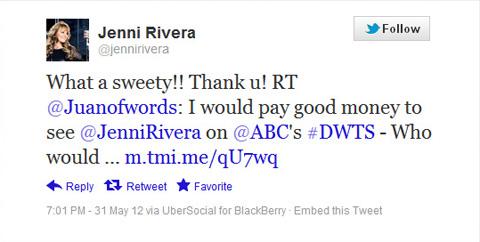 Jenni Rivera Tweet juanofwords