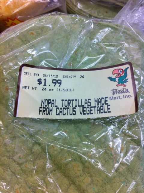 tortillas de nopal