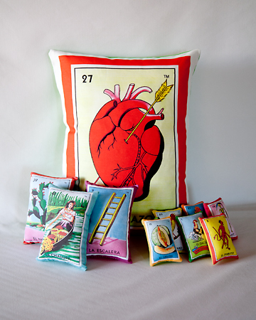 12 Days of Christmas: Day 9 - Mexican Loteria Pillow Set!