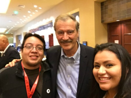 That one time we met Former President Vicente Fox