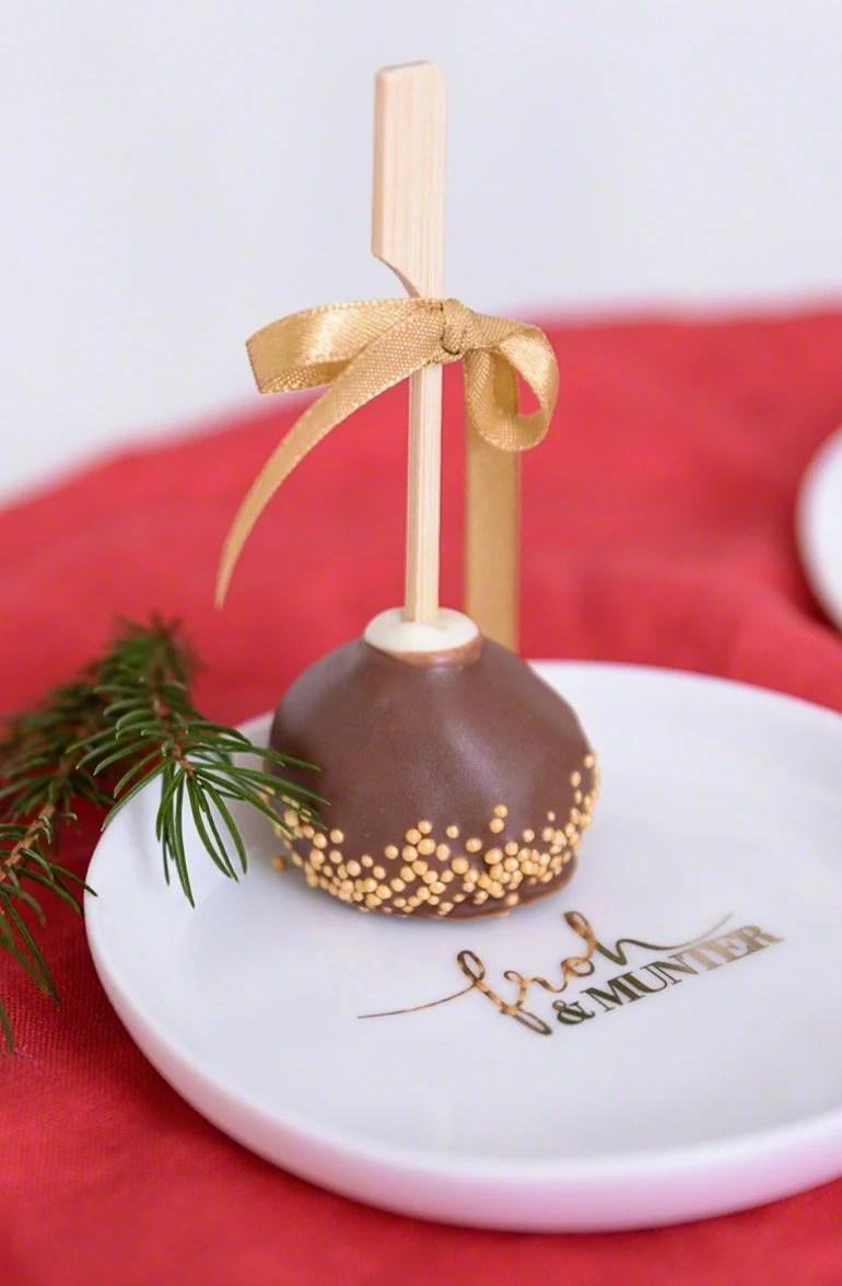 Alternative zu Weihnachtskeksen: Weihnachtscakepops aus Gewürzkuchen
