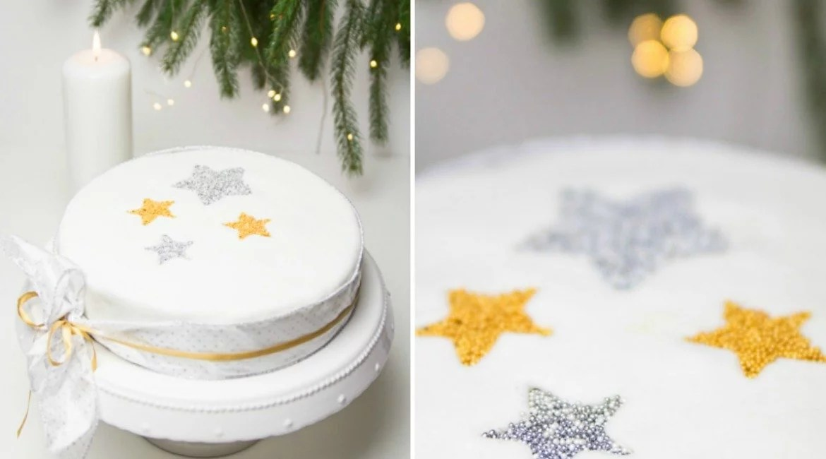 sternen torte zu weihnachten mit orangen buttercreme. Black Bedroom Furniture Sets. Home Design Ideas