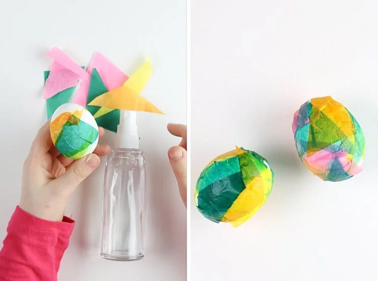 Ostereier färben mit Seidenpapier & TK maxx