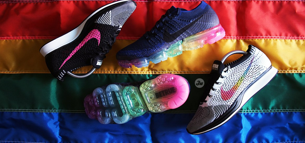 NikeLab VaporMax & Flyknit Racer BETRUE on-feet videos for Pride month