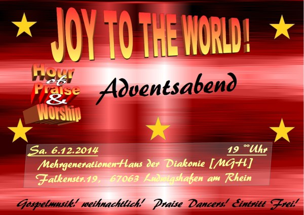 hour of praise & worship-Advents Abend-2014-flyer-J