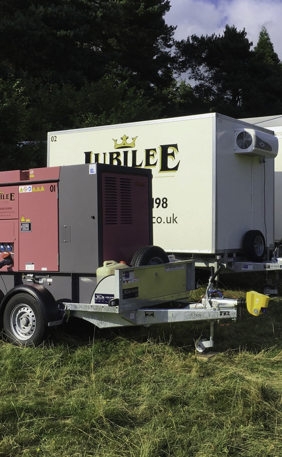 full fleet or trailers.. generator and two refrigerated units
