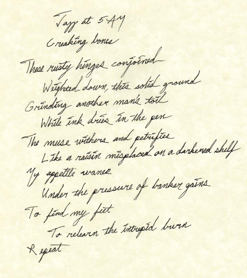 5am,banker,poem