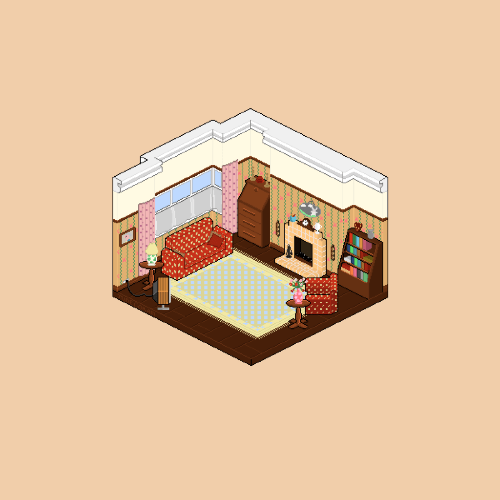 west wallaby street room pixel art
