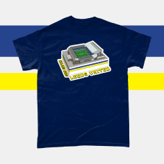 Leeds UNited Elland Road Football Stadium Illustration Men's T-Shirt Navy