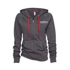 Unisex-Red-Gray-Zip-Up-Hoodie