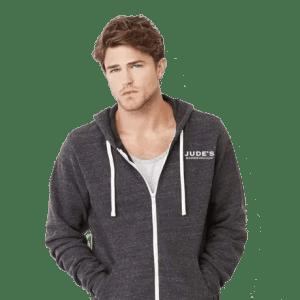 Unisex-dark-gray-logo-hoodie-4