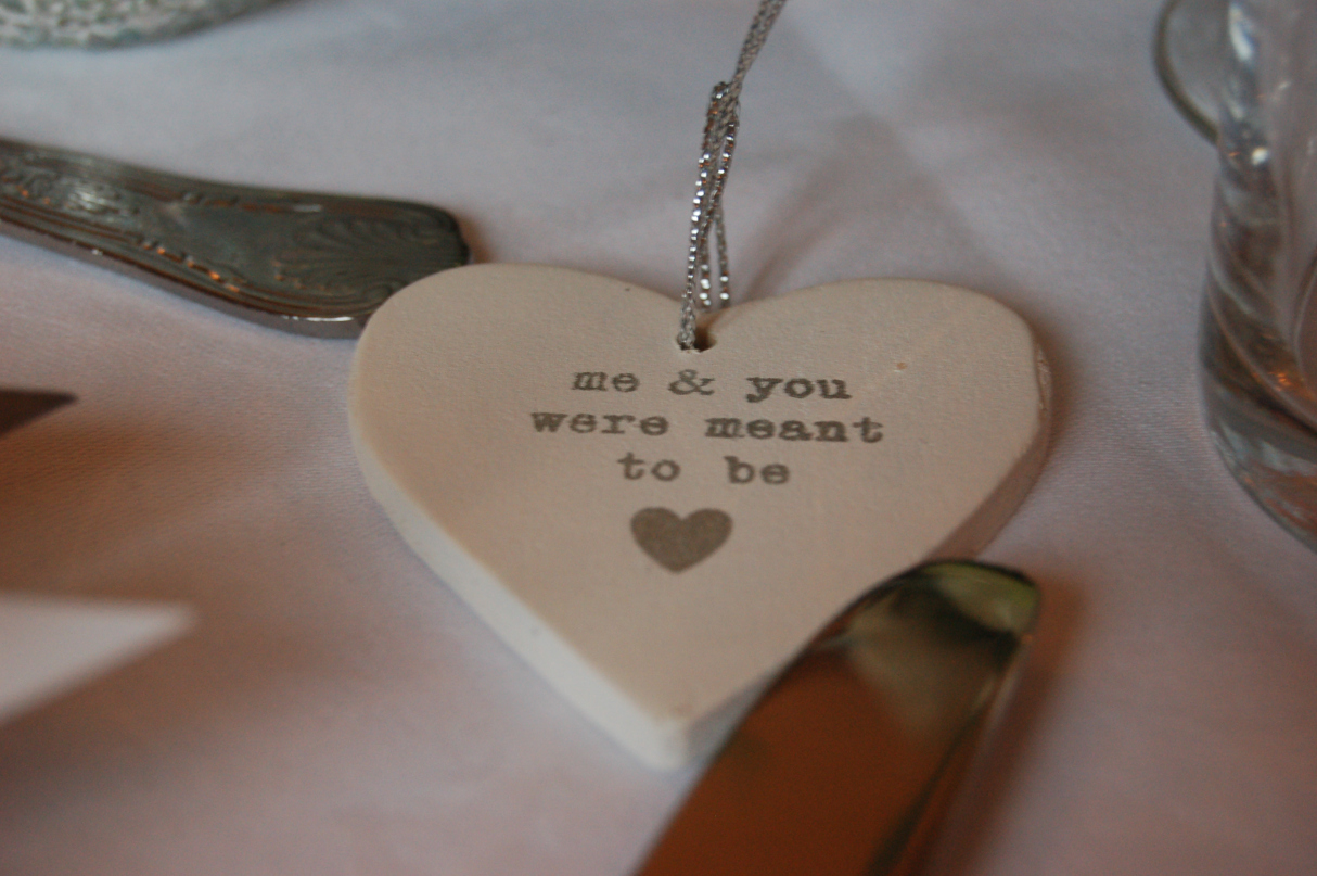 How romantic – Denise put this on James' place setting