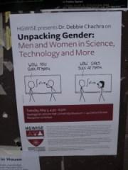 Genderongelijkheid. Foto genomen op de campus van Harvard in Cambridge