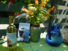 Commemorative Gwertztraminer wine made specially for the launch with the Summer of Fortune cover on the label.