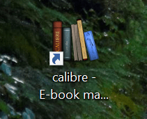 calibre icon on my desktop