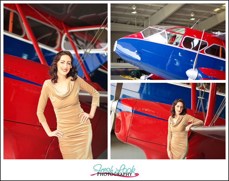 pin up aviation shoot