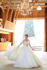 barn bride dress