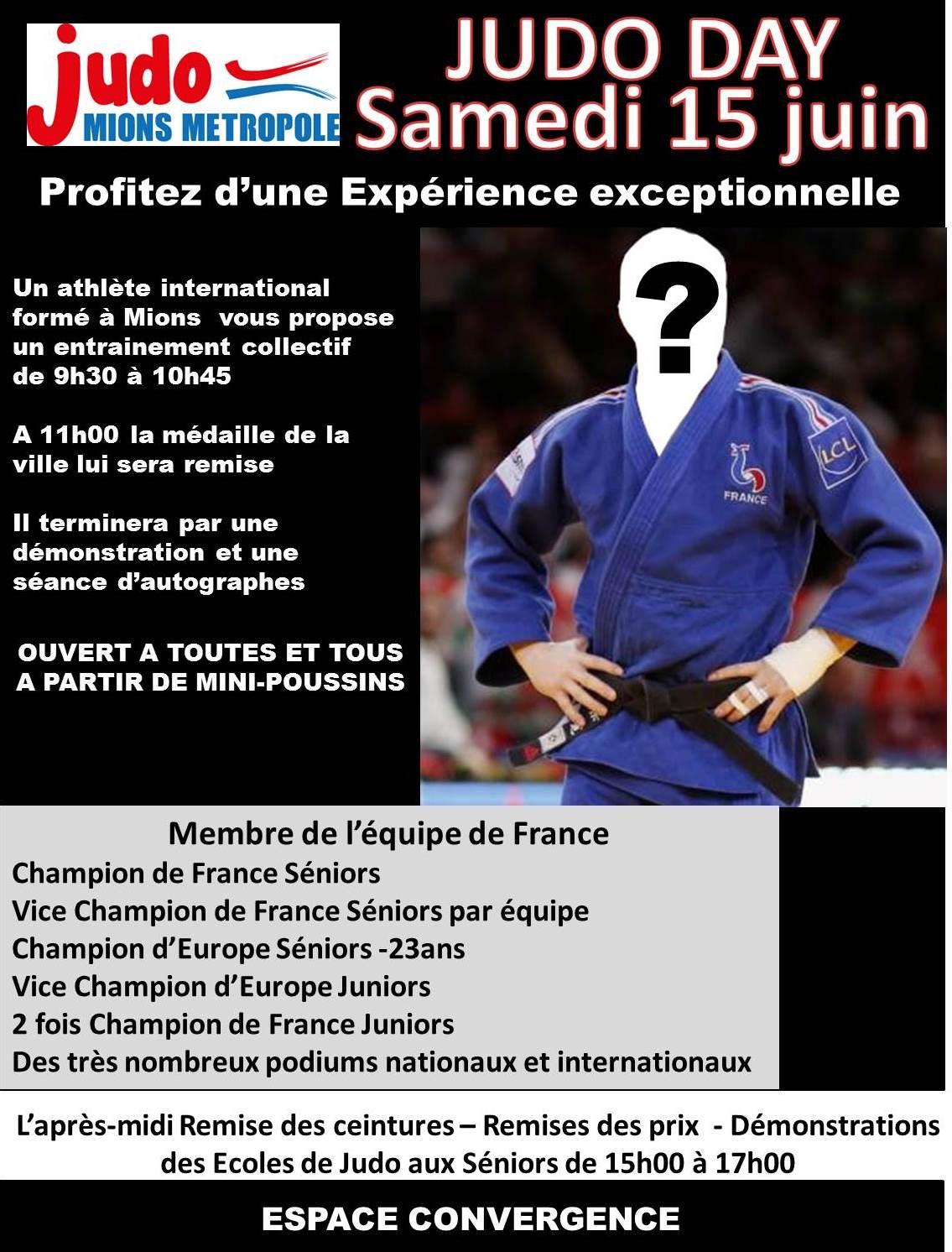 Judo Day, réservez votre samedi 15/06/2019 !