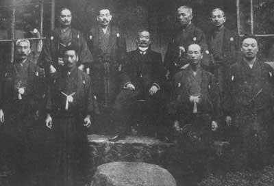 jigoro kano e alcuni decimo dan del kodokan