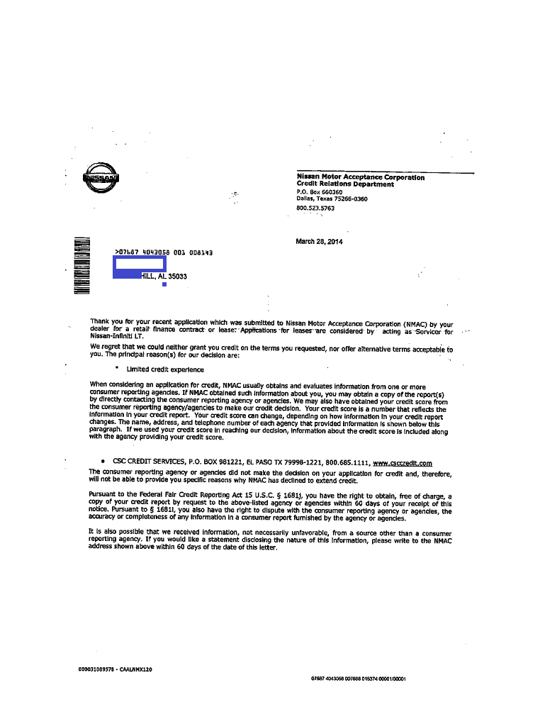 payoff phone number for nissan motor acceptance corporation