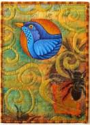 Blue bird of hapiness