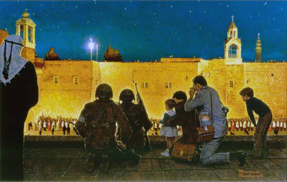 Norman-Rockwell-Uneasy-Christmas-in-the-Birthplace-of-Christ-Christmas-Eve-in-Bethlehem-1970