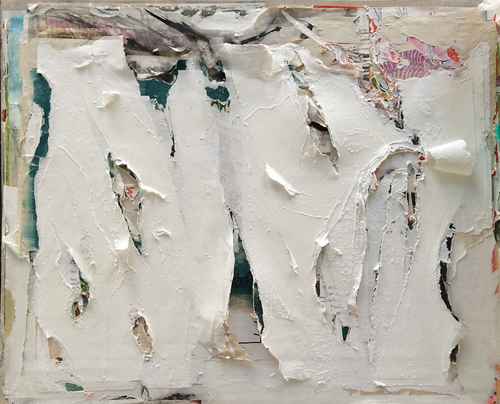 Fragments of a Year: layered paper collage